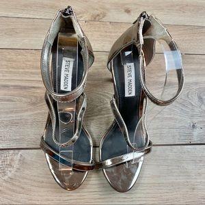 Steve Madden | Silver Feelya Heels | Size 9
